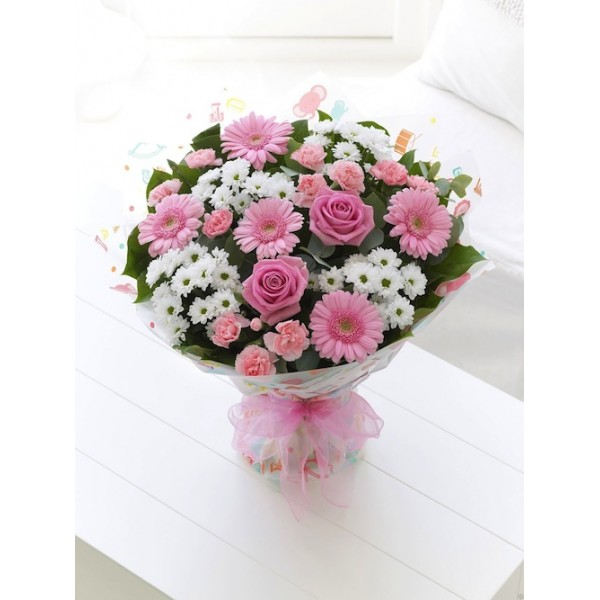 Send gorgeous delight baby girl bg flower gifts to dubai with gorgeous delight baby girl bg negle Gallery