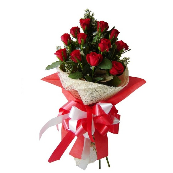 Send Roses Burst Bouquet LR HAB Flower Gifts to Dubai with Flowers ...